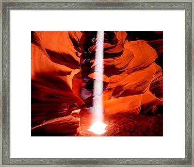 Cavern Lights Artistic Style - Antelope Canyon - Arizona Framed Print