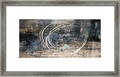 Framed Print featuring the painting Cavernous by Lesley Fletcher