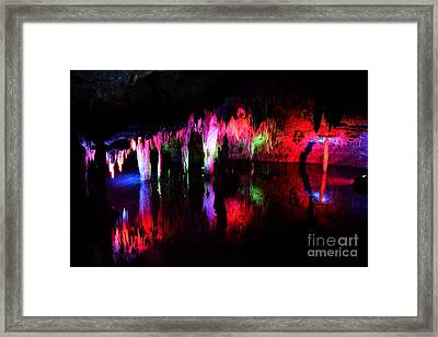 Framed Print featuring the photograph Caverns by Utopia Concepts