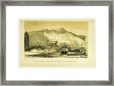 Caves At Bamian, Narrative Of Various Journeys Framed Print by Litz Collection