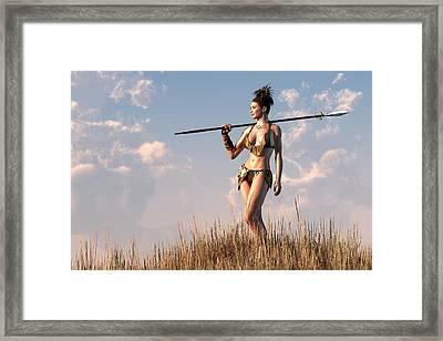 Cavewoman Framed Print by Kaylee Mason
