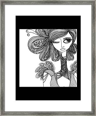 Caviar Black Framed Print by Jody Pham