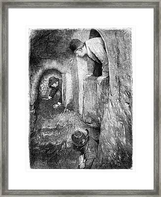Caving In Switzerland Framed Print
