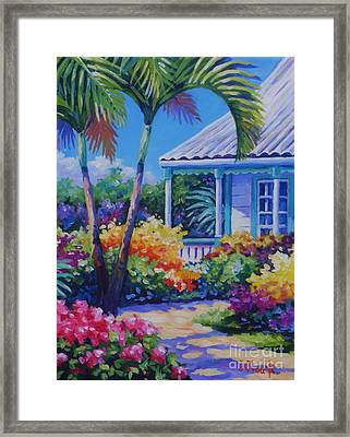 Cayman Yard Framed Print by John Clark