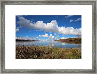 Cayuga Lake In Colorful Fall Ithaca New York II Framed Print by Paul Ge