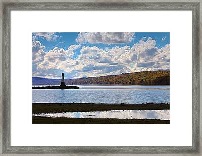 Cayuga Lake In Colorful Fall Ithaca New York IIi Framed Print