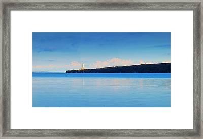 Cayuga Lake Ithaca New York Panoramic Photography Framed Print