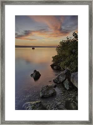Cayuga Sunset I Framed Print by Michele Steffey