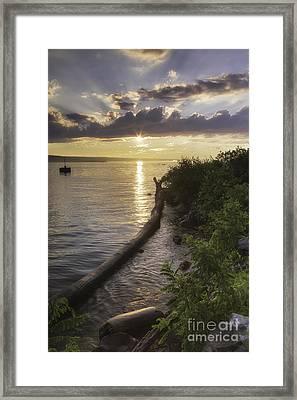 Cayuga Sunset II Framed Print