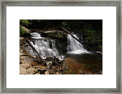 Cayuga Waterfalls Framed Print by David Simons
