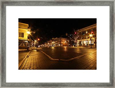 Cazenovia Center Framed Print