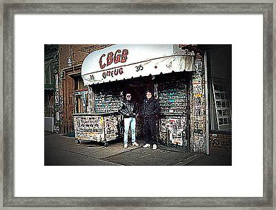 Cbgb New York 1992 Framed Print