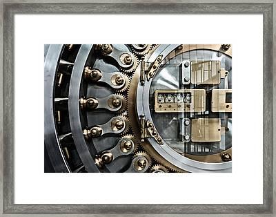 Cbot Vault Door Framed Print