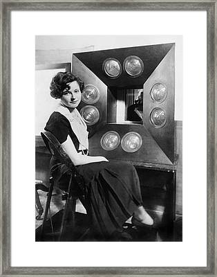 Cbs First Television Girl Framed Print by Underwood Archives