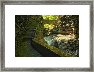 Ccc Path To The Falls Framed Print by Adam Jewell
