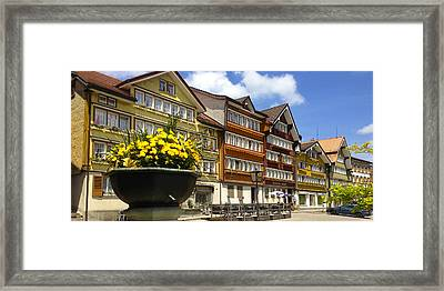 Ccolourful Traditional Appenzeller Homes Urnaesch Canton Appenzell Outer Rhodes Switzerland Framed Print by PIXELS  XPOSED Ralph A Ledergerber Photography