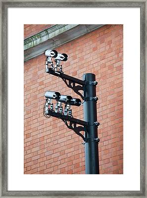 Cctv Cameras Framed Print by Ashley Cooper