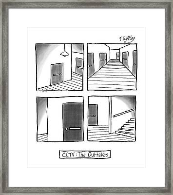 Cctv: The Outtakes -- Four Panels Of Security Framed Print by T.S. McCoy