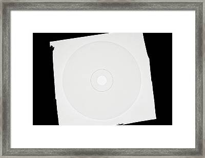 Cd Moulded From Melted Polycarbonate Framed Print by Dorling Kindersley/uig