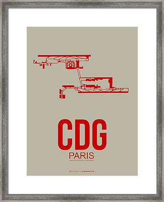 Cdg Paris Airport Poster 2 Framed Print by Naxart Studio