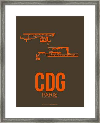 Cdg Paris Airport Poster 3 Framed Print