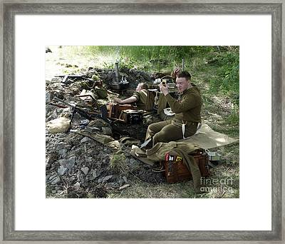 Ceasefire Framed Print by Ladi  Kirn