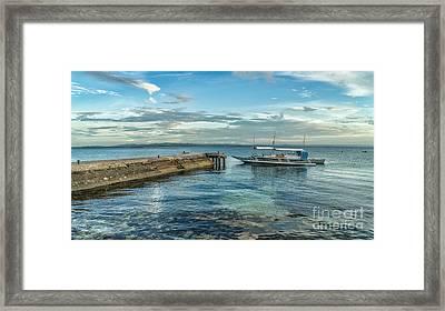 Cebu Tour Boat Framed Print by Adrian Evans