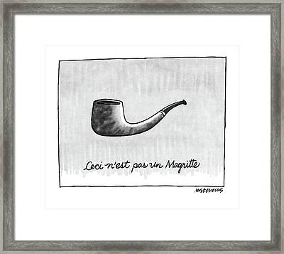 Ceci N'est Pas Un Magritte. Picture Of A Pipe Framed Print by Mick Stevens