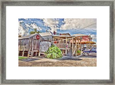 Cecil's Grocery Framed Print by Scott Pellegrin