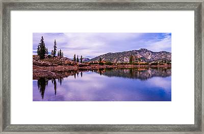 Cecret Reflection Framed Print by Chad Dutson