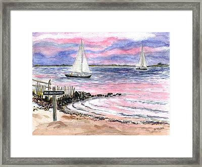 Cedar Beach Pinks Framed Print