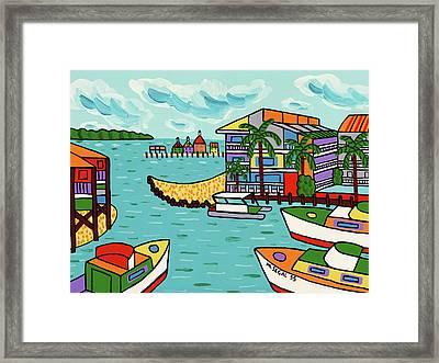 Cedar Cove Marina - Cedar Key Framed Print