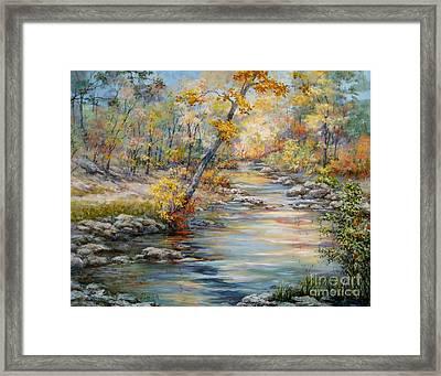 Cedar Creek Trail Framed Print by Virginia Potter