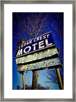 Cedar Crest  Framed Print by Off The Beaten Path Photography - Andrew Alexander