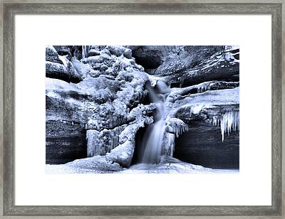 Cedar Falls In Winter Framed Print by Dan Sproul