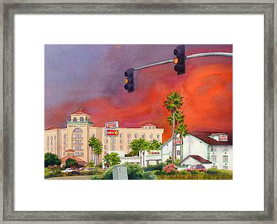 Cedar Fire San Diego 2003 Framed Print by Mary Helmreich