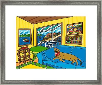 Cedar Key Snoozer Framed Print