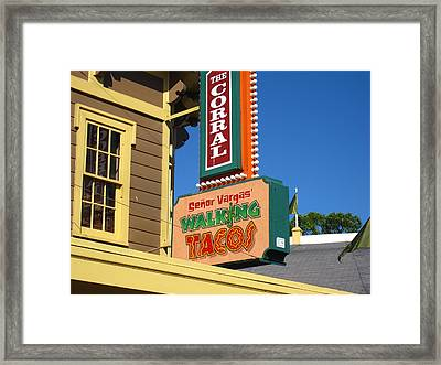 Cedar Point - 121211 Framed Print by DC Photographer