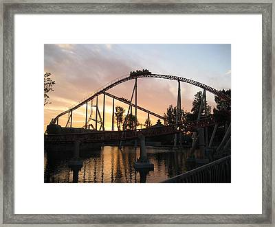 Cedar Point - Maverick - 12121 Framed Print