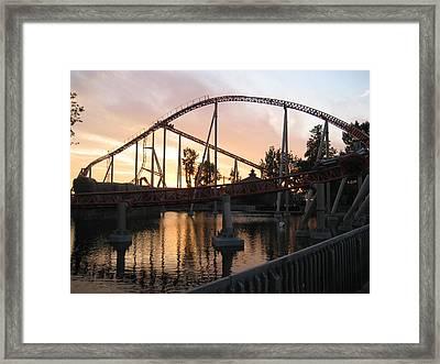 Cedar Point - Maverick - 12122 Framed Print by DC Photographer