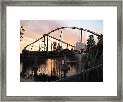 Cedar Point - Maverick - 12123 Framed Print by DC Photographer
