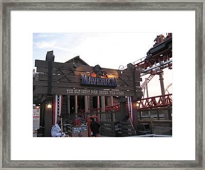 Cedar Point - Maverick - 12126 Framed Print by DC Photographer