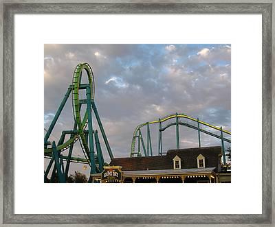 Cedar Point - Raptor - 12121 Framed Print by DC Photographer