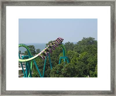 Cedar Point - Raptor - 12127 Framed Print