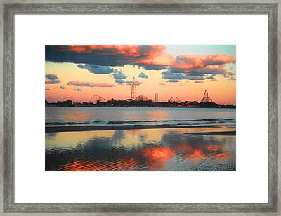 Cedar Point Framed Print