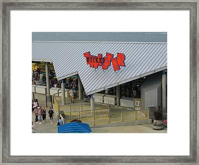 Cedar Point - Wicked Twister - 12127 Framed Print