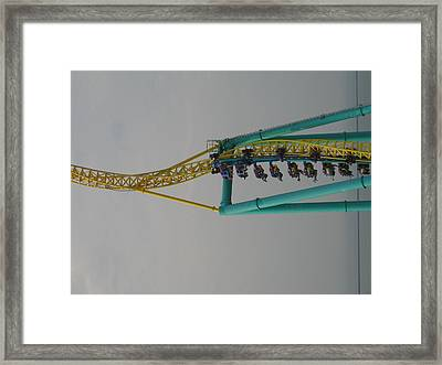 Cedar Point - Wicked Twister - 12128 Framed Print by DC Photographer