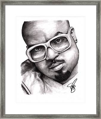 Cee Lo Green Framed Print by Rosalinda Markle