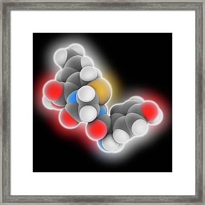 Cefprozil Drug Molecule Framed Print