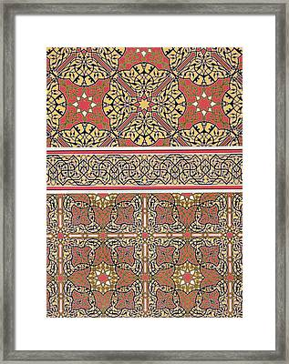 Ceiling Arabesques From The Mosque Of El-bordeyny Framed Print by Emile Prisse d Avennes